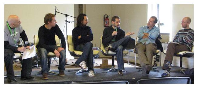 Causerie #1: Xavier Guilbert, Ronald Grandpey, Fabien Texier, Nicolas Verstappen, Etienne Davodeau, Cédric Manche.