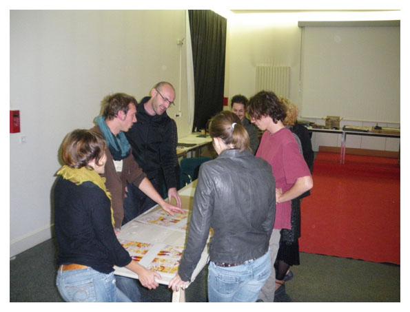 Les étudiants et les profs des Beaux-Arts de Besançon.