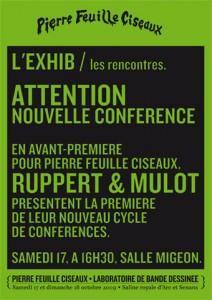 affichette conférence Ruppert et Mulot