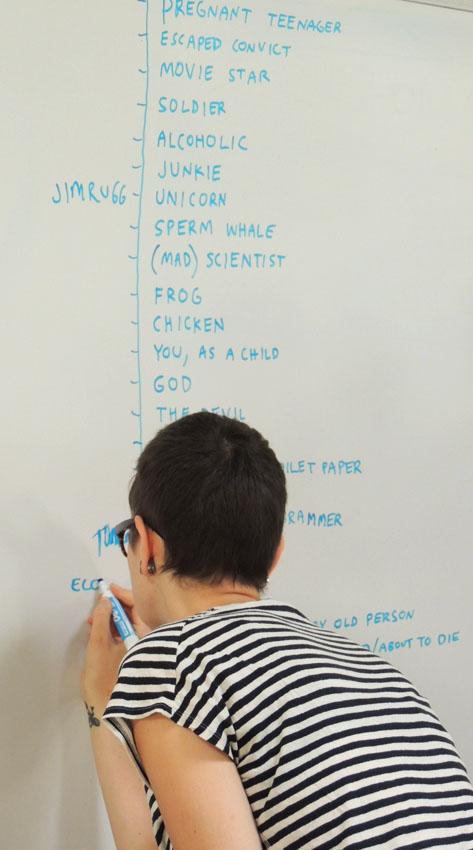 Chaque auteur choisit son personnage dans la liste élaborée par Anders.