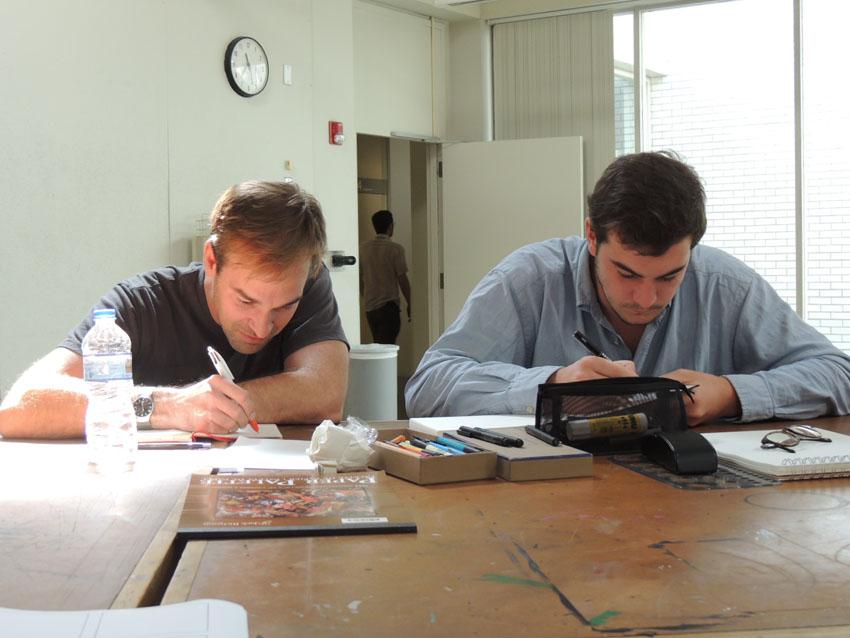 Jim Rugg et Eugène Riousse ensemble pour le bouquin collectif.