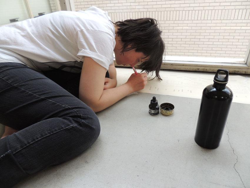 Geneviève Castrée dessine la musique.