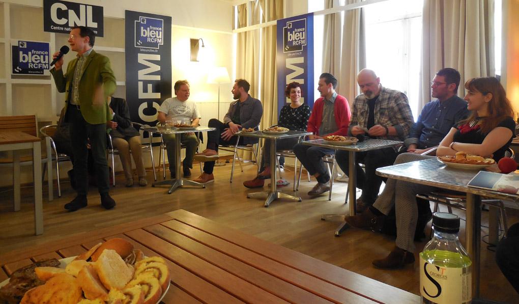 La rencontre du dimanche matin avec la délégation anglaise.