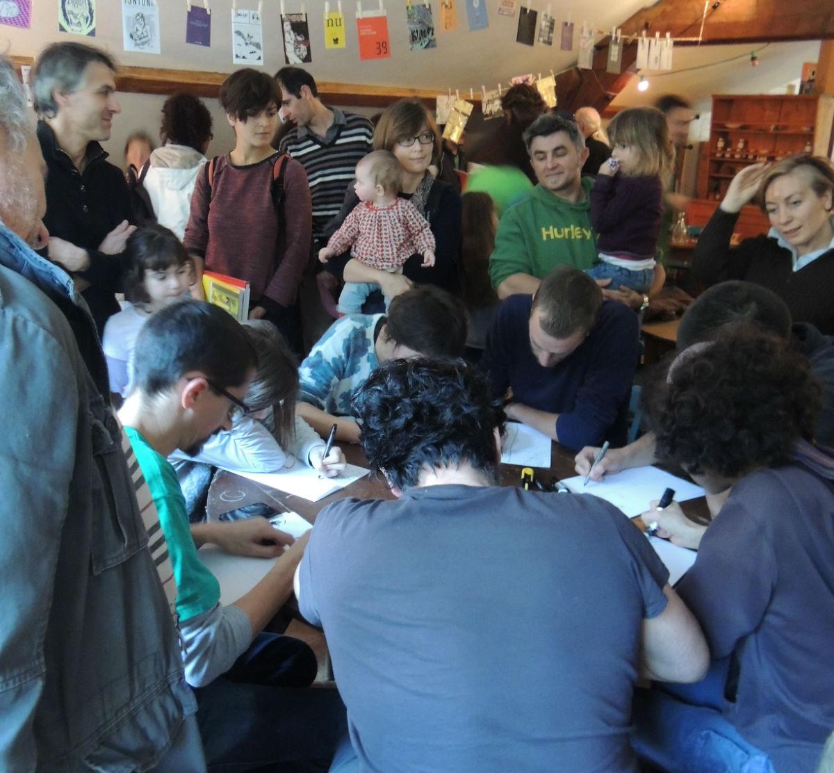 """Week-end à L'Entrepot, l'atelier-perfomance-contrainte dit des """"24 minutes""""."""