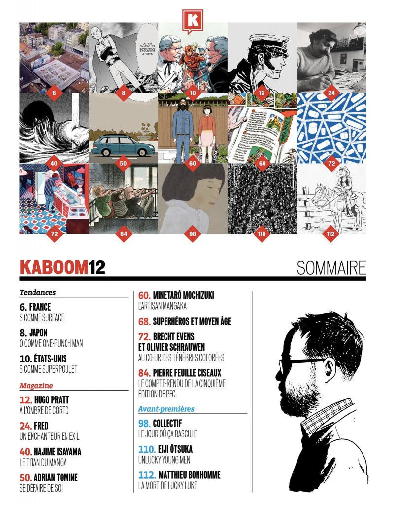 PFC dans Kaboom #12 - sommaire