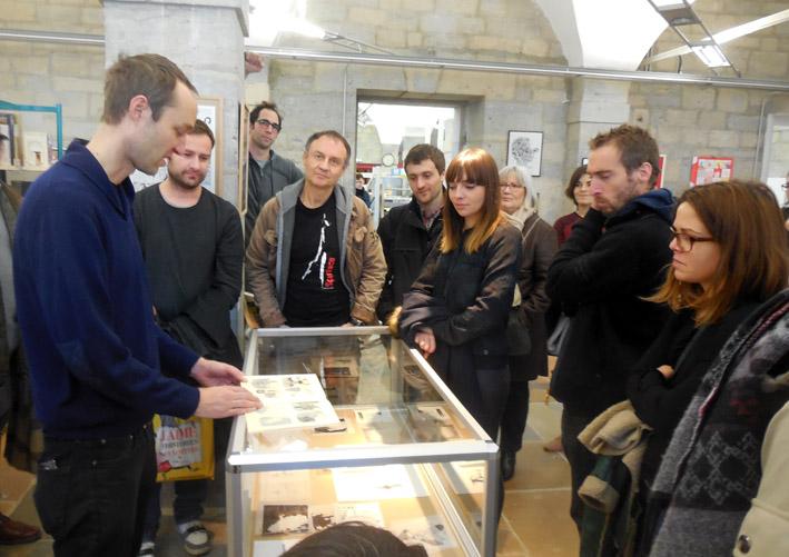 La Chèvre Sans Visage - visite guidée avec Anders Nilsen et Marc Bell, Médiathèque