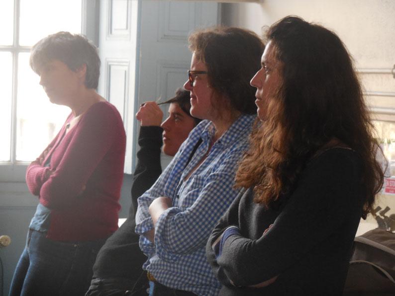 Spéléographie 2016: Joelle Jolivet, Julie Doucet, Clémentine Mélois.