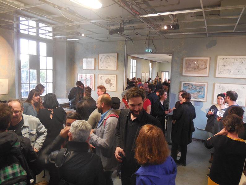 Spéléographies 2016: le vernissage de l'expo de Julie Doucet et Pascal Leyder.
