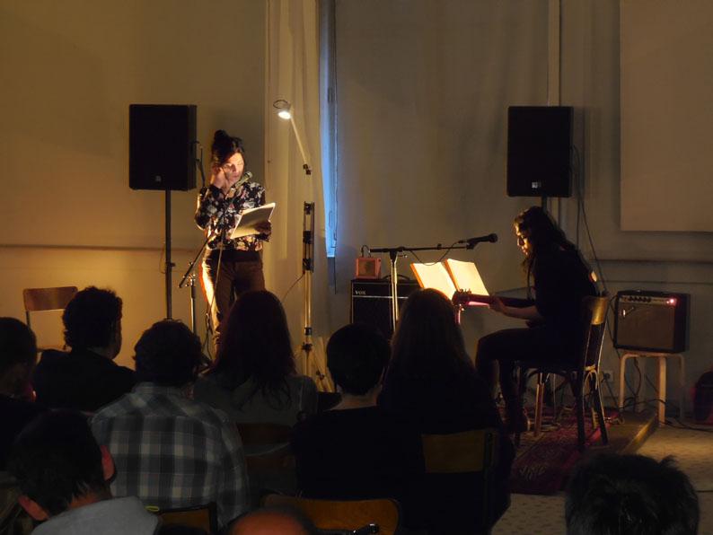Spéléographies 2016: lecture musicale par Brigitte Giraud & Laetitia Shériff.