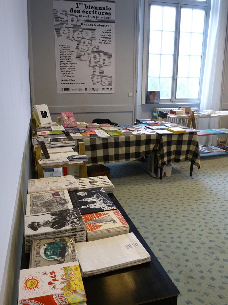 Spéléographies 2016: la petite librairie.